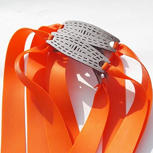 MILAEM 3pcs Flat Elastic Rubber Brand Outdoor Hunting Slingshot Replacement Band for Wooden Slingshot Catapult Tapered Hunting Bands(Orange) - Tapered Slingshot