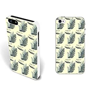 Simple Retro Designed Protective Phone Case Hard Plastic Back Cover for Iphone 5 5s (animal feather BY807)