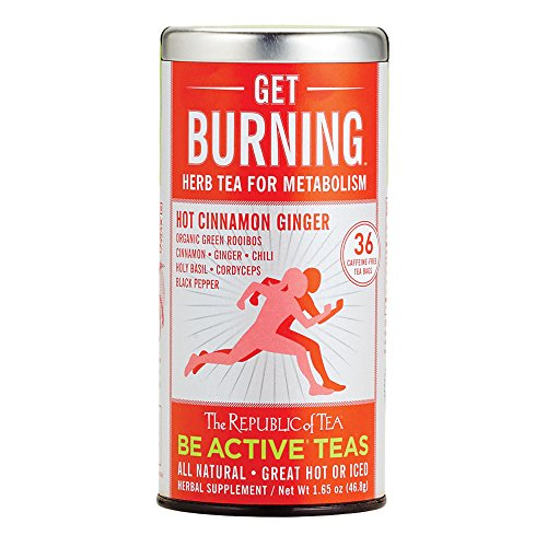 (The Republic Of Tea Be Active Green Rooibos Tea Get Burning - Herb Tea For Metabolism, 36 Tea Bags)