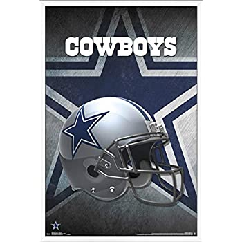 Trends International NFL Dallas Cowboys - Helmet Wall Poster, 22.375