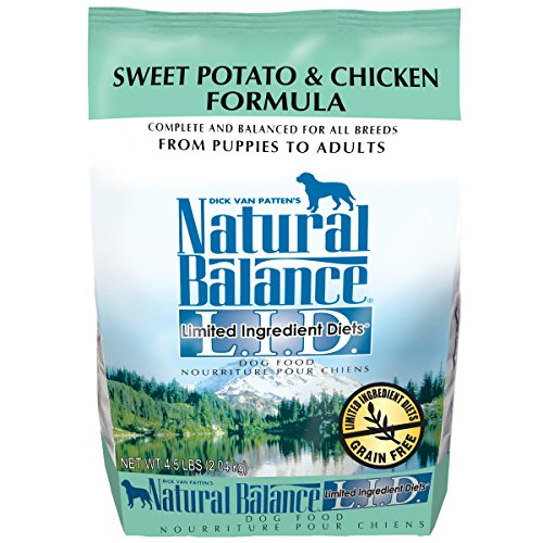 - Natural Balance L.I.D. Limited Ingredient Diets Sweet Potato & Chicken Formula Dry Dog Food, 4.5-Pound