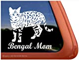 Bengal Mom Cat Vinyl Window Decal Sticker