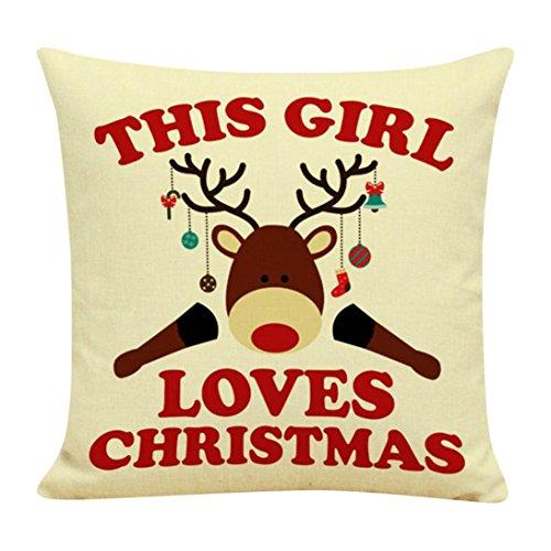 Pillowcases JUNNEY Christmas Cotton Linen Cushion Cover Throw Waist Pillow Case Sofa Home Decor Pillow Cover(45cm45cm ) (Corduroy Diaper Cover)