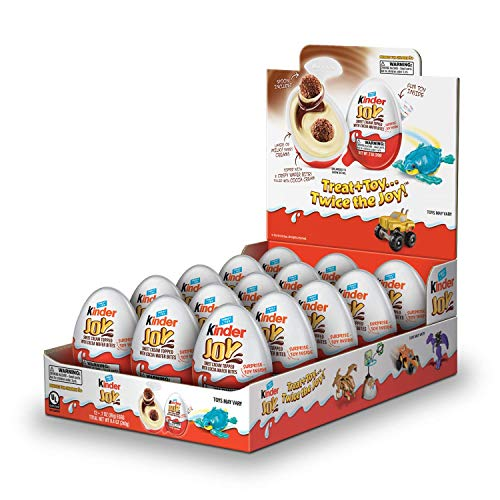 (Kinder Joy Chocolate Candy Eggs with Surprise Toy Inside, Easter Basket Stuffers, 15 Count, 10.5 oz, PACKAGING MAY)