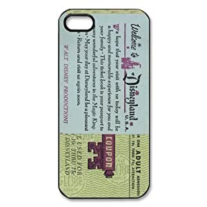 Disneyland Ticket iPhone Case for iphone 5/5s, Well-designed TPU iphone 5s Case, iphone accessories