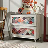 Bowery Hill 2 Drawer Accent Chest in White Plank