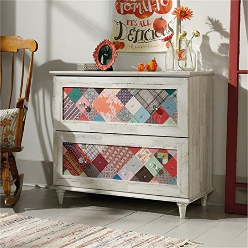 Bowery Hill 2 Drawer Accent Chest in White Plank by Bowery Hill