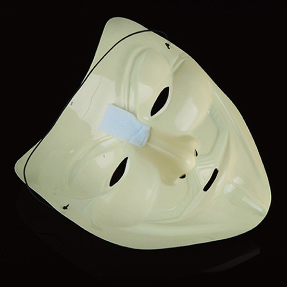 Amazon.com: fengus Costume Mask V For Vendetta Guy Fawkes Anonymous Fancy Dress Hallowee Face Mask-Style03: Home & Kitchen