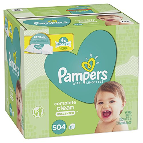 Pampers Wipes Complete Clean Unscented 7 packs ( 504 wipes ) (Wipe Pack Case Baby)