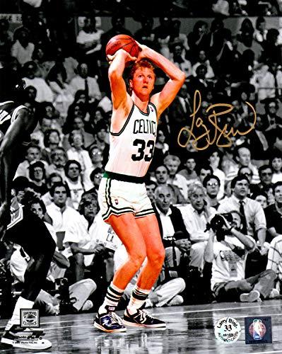 Larry Bird Autographed Signed Boston Celtics Jump Shot Spotlight 8x10 Photo - Certified Authentic ()
