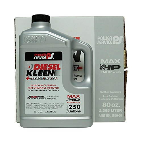 (Power Service Diesel Kleen + Cetane Boost - 6/80oz. Bottles)