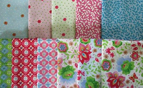 - 11 fat quarters Suzette by Sue Zipkin from Clothworks 100% Cotton Quilt Fabric