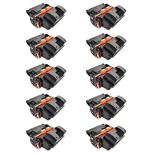 NineLeaf 10PK High Yield Compatible Toner Cartridge for CC364A 64A Black Used in LaserJet P4515tn P4515x Printer