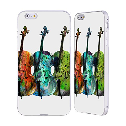 Officiel Mark Ashkenazi Trois Chello Musique Argent Étui Coque Aluminium Bumper Slider pour Apple iPhone 6 Plus / 6s Plus