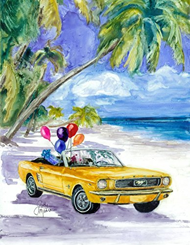 Amazon Six Pack Happy Birthday Day At The Beach Yellow Car