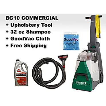 Bissell BG10 Big Green Deep Cleaning Machine with Attachment Hose 11W, 10-1/2W Cleaning Path (BG10 Bundle)
