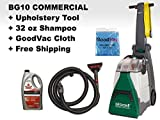 Bissell BG10 Big Green Deep Cleaning Machine with Attachment Hose - 11''W, 10-1/2''W Cleaning Path - (BG10 Bundle)