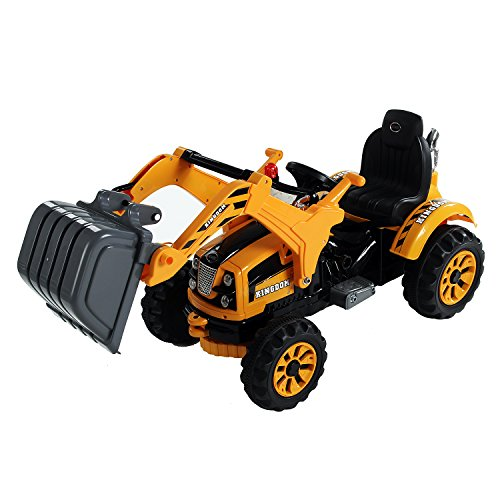 Aosom 6V Kids Ride On Toy Digger Construction Excavator Tractor W/ Remote Control (Dream Dirt Car)