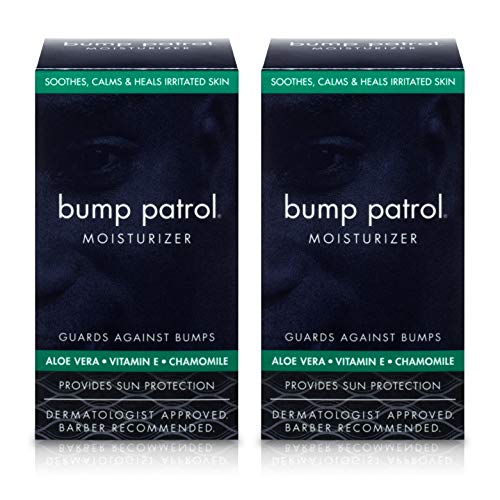 Bump Patrol Everyday Skin Moisturizer - Aloe Vera, Vitamin E, Chamomile Guards Against Razor Bumps, Ingrown Hairs - 1.69 Ounces 2 Pack ()