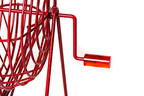 Official Professional-Use Extra Large Red Plastic Coated Bingo Cage Set w/Ping Pong Bingo Balls, 19'' High by Mr. Chips, Inc by Mr. Chips (Image #2)