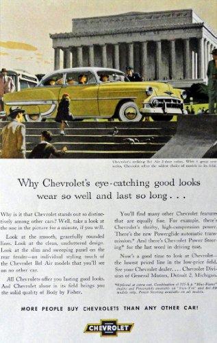 [1953 Chevrolet Car, Print Advertisment. Full Page Color Illustration, 6 3/4