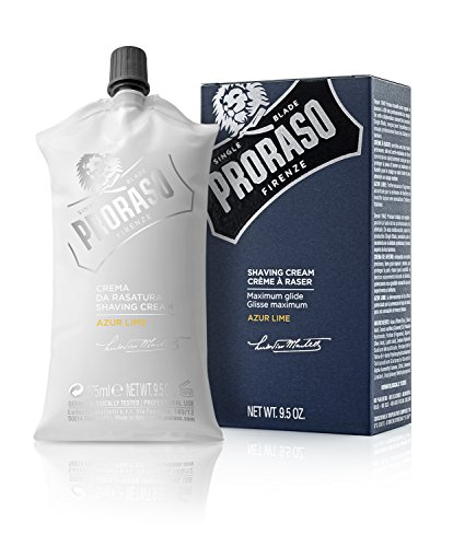 Proraso Single Blade Shaving Cream, Azur Lime, 9.5 (Shave Cream Extra Protection)