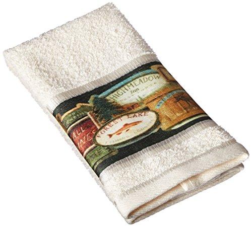 Avanti Rather be Fishing Hand Towel, Multicolored