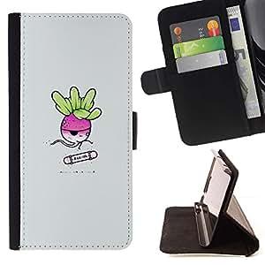 Momo Phone Case / Flip Funda de Cuero Case Cover - Rad Ish Redish Skater - Funny - LG G4c Curve H522Y (G4 MINI), NOT FOR LG G4