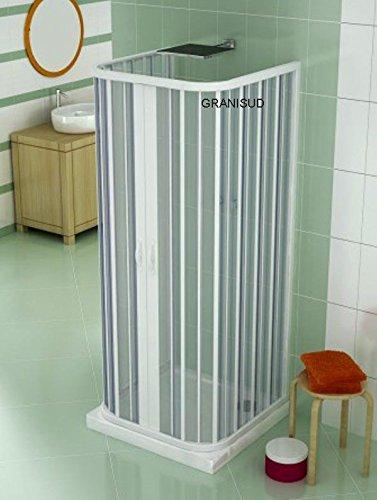 Shower Enclosure Plastic PVC 3 Sided 700x700 3 Sided mod. Ariete ...