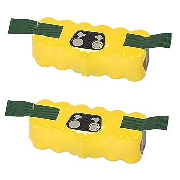 NeBatte 2x Roomba 14.4V 4500mAh Ni-MH Aspiradoras de repuesto Baterías 2 paquetes para iRobot Roomba 500 600 700 800: Amazon.es: Hogar