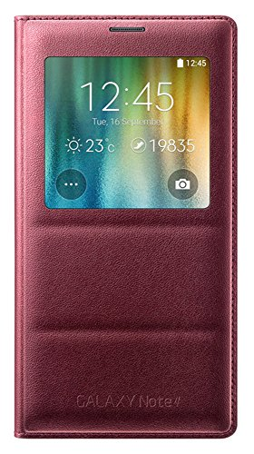 Genuine Original Samsung S-View Flip Cover Case for Galaxy N910 Note 4 (Plum)