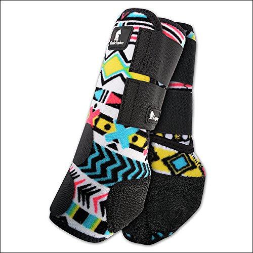Classic Equine FRONT MEDIUM LEGACY SYSTEM SPORTS HORSE LEG BOOTS TRIBAL PRINT