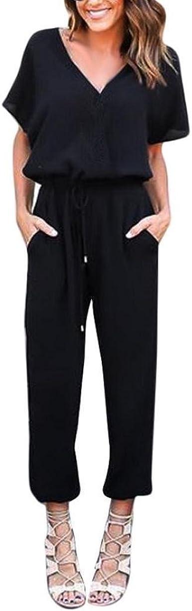 Mono Largo Mujer Venmo Pantalones Mujer Monos De Vestir Mujer Trajes De Fiesta Gasa Bodycon Monos De Manga Corta De Fiesta Mujer Verano Casual Pantalones Largo Amazon Es Ropa Y Accesorios
