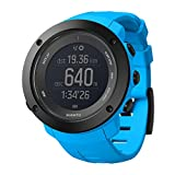 Suunto Ambit3 Vertical (HR) Digital Display Quartz Men's Watch, Blue Silicone Band, Round 50mm Case