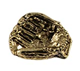 Creative Pewter Designs, Baseball Glove Lapel Pin Brooch, 24k Gold Plated, AG512