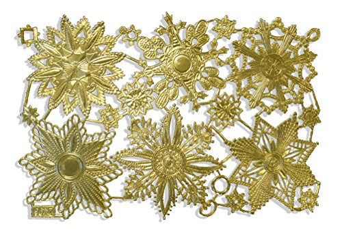 Kunze Dresden Medallion and Snowflake Assortment, Large, Gold