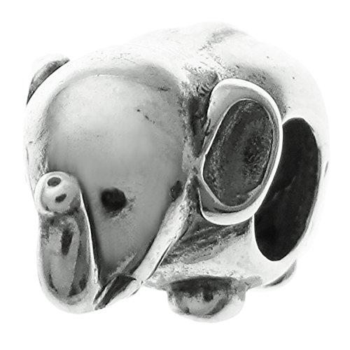 Dreambell 925 Sterling Silver Africa Jumbo Elephant Bead For European Charm Bracelet