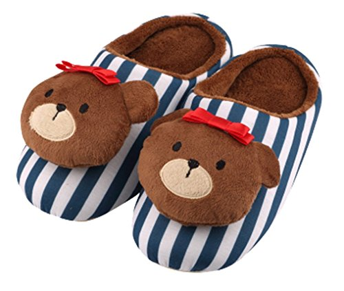 Cattior Womens Comfy Cute Bear Ladies Slippers Indoor Slippers Green 1 bzCSytg4E