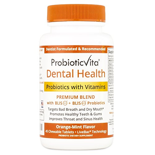 Dental Health Probiotics with Vitamins - Fights Bad Breath,