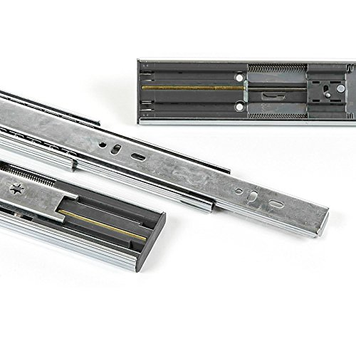 2 x SO-TECH Glissi/ère /à Extension Compl/ète 600 mm 80 Kg Capacit/é de Charge Glissi/ère T/élescopique