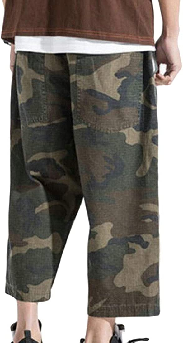 M/&S/&W Men Summer Camouflage Loose Baggy Shorts Big and Tall