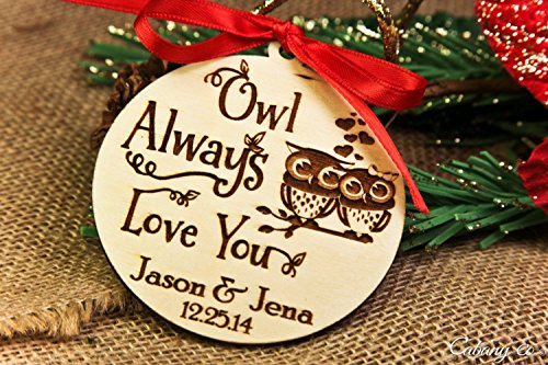 Personalized Christmas Ornament- Owl Always Love - History Timeline Sunglasses