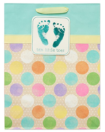 American Greetings Medium Baby Gift Bag, Ten Little Toes with ()