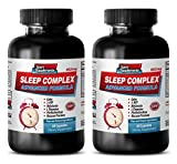 Product review for 5-htp bulk supplements - SLEEP COMPLEX ADVANCED FORMULA - 952MG - antiaging skincare - 2 Bottles (120 Capsules)