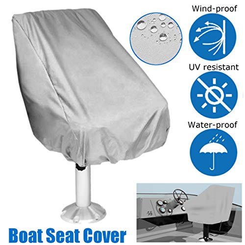 dDanke Gray Folding Boat Seat Cover for Chair with Armrest 56x61x64cm