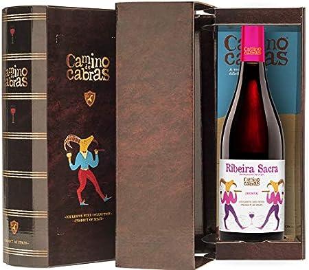 CAMINO DE CABRAS Estuche de vino - Mencía - vino tinto – D.O. Ribeira Sacra – Producto Gourmet - Vino para regalar - Vino Premium - 1 botella x 750 ml.