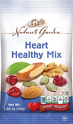 Natures Garden Heart Healthy Mix Single Serve 1oz Bags, Pack of 7