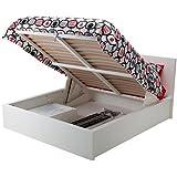 Amazon.com: IKEA Marco de cama queen size, Blanco mancha ...