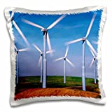 Danita Delimont - Energy - USA, Washington, Wind turbines energy - US48 CCR0118 - Charles Crust - 16x16 inch Pillow Case (pc_95201_1)