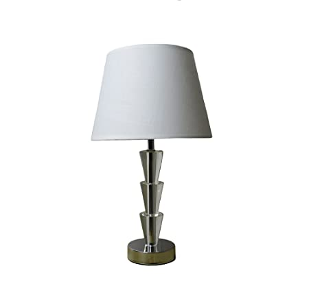 331a64f91871 KLiving Florence Crystal Glass Table Lamp Complete with Fabric Shade:  Amazon.co.uk: Kitchen & Home